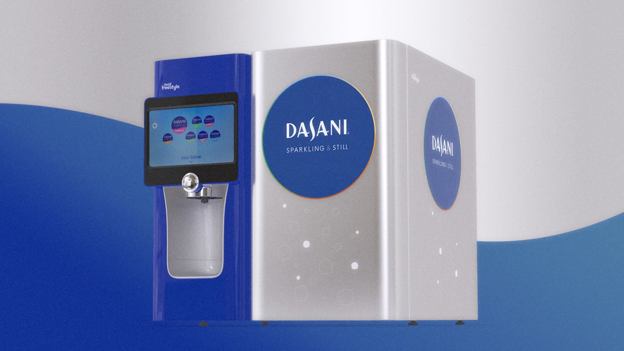 Dasani's new vending machine is BYOB (bring your own bottle)