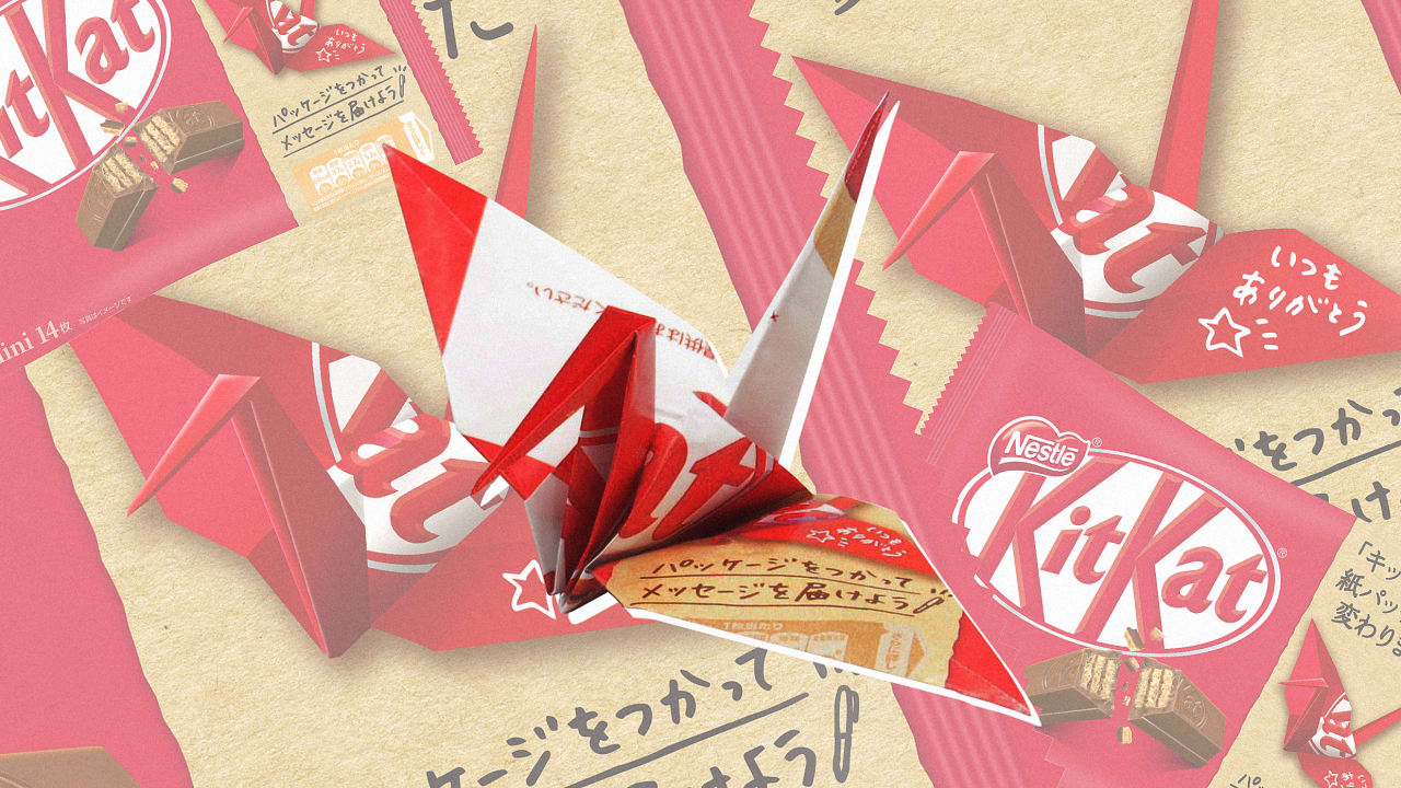 KitKat is ditching plastic packaging for paper you can turn into origami