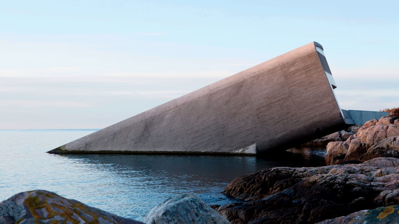 This Norwegian underwater restaurant is a design marvel