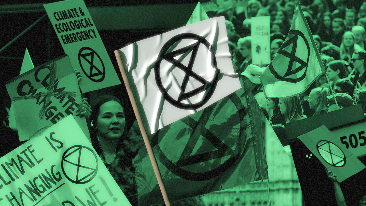 How the Extinction Rebellion got its powerful, unsettling logo
