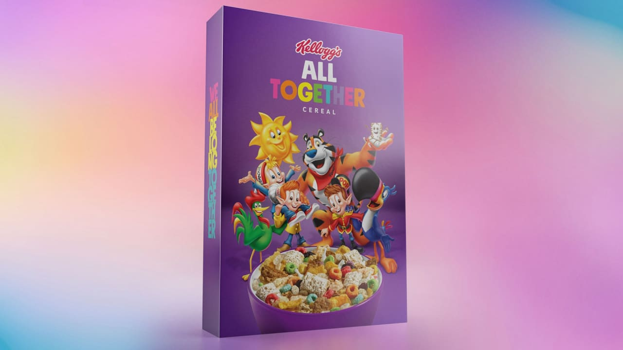 Kellogg's new inclusion cereal features 6 cereals and 6 mascots