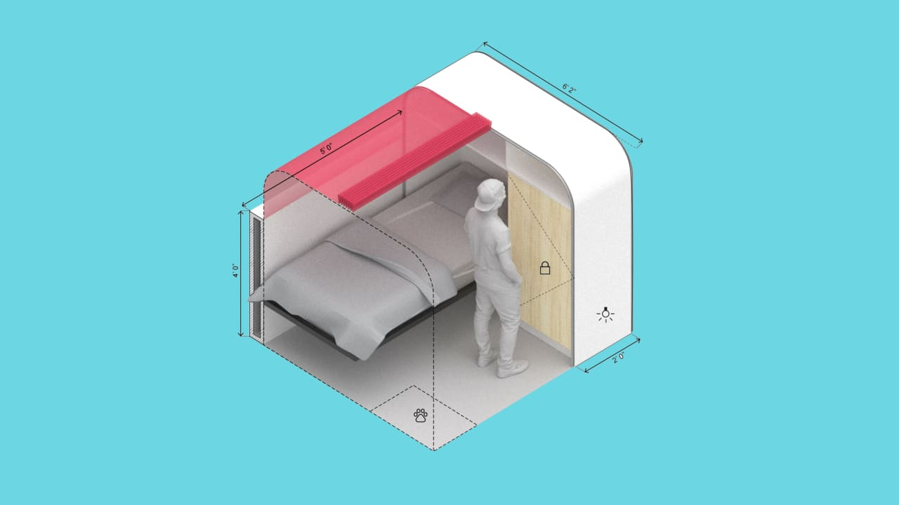 These modular units are designed to make homeless shelters a little more livable