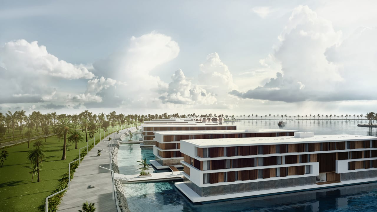 Qatar's ultramodern World Cup hotels are built to float on water