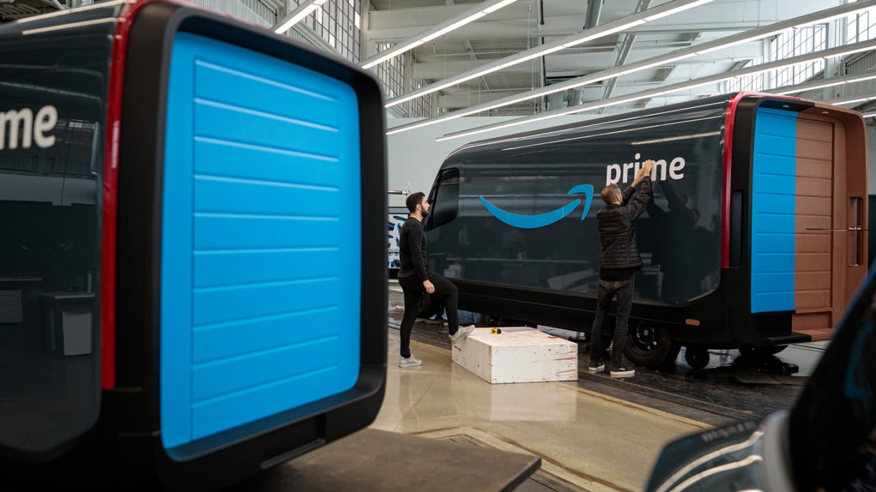 Get used to the look of Amazon's new electric delivery van, because they're making 100,000 of them