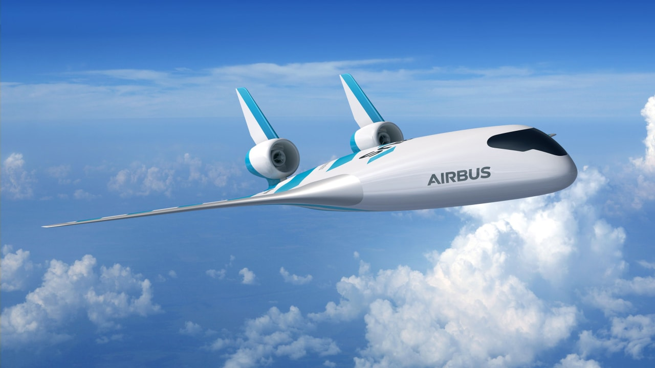 See Airbus's radical new plane concept, a luxe riff on the Stealth Bomber
