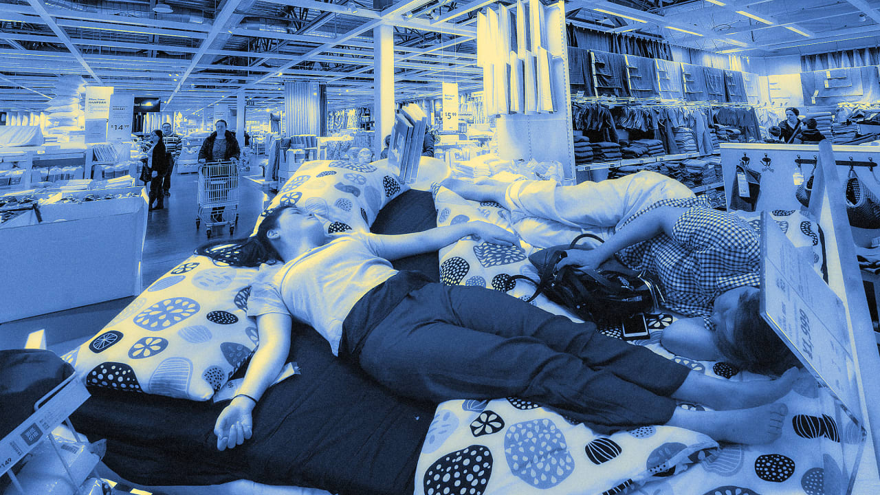 Who in the heck would want to sleep over in an Ikea?!?