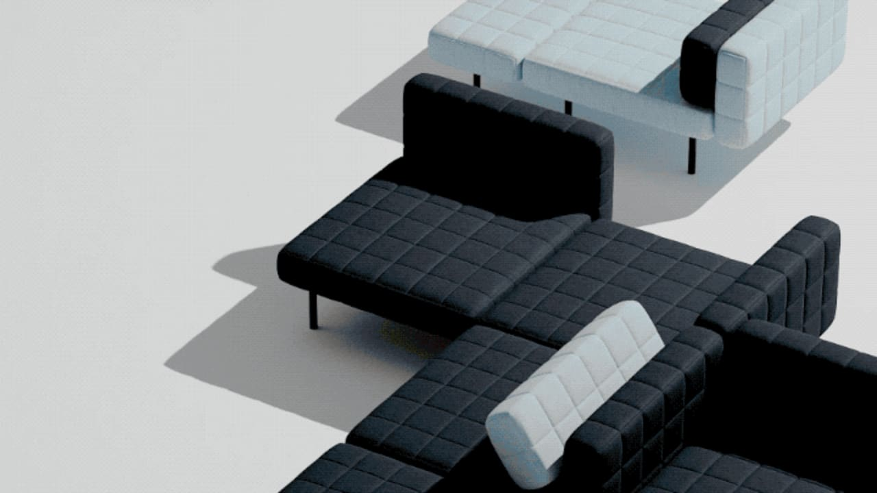 See Bjarke Ingels Group's first couch. It's like a building you sit on