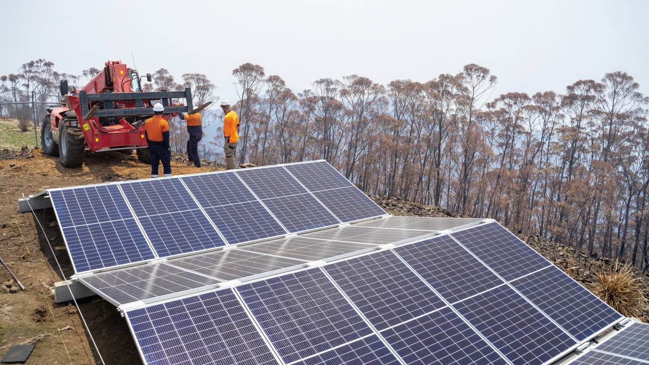 New microgrids are helping Australia get power back after the fires