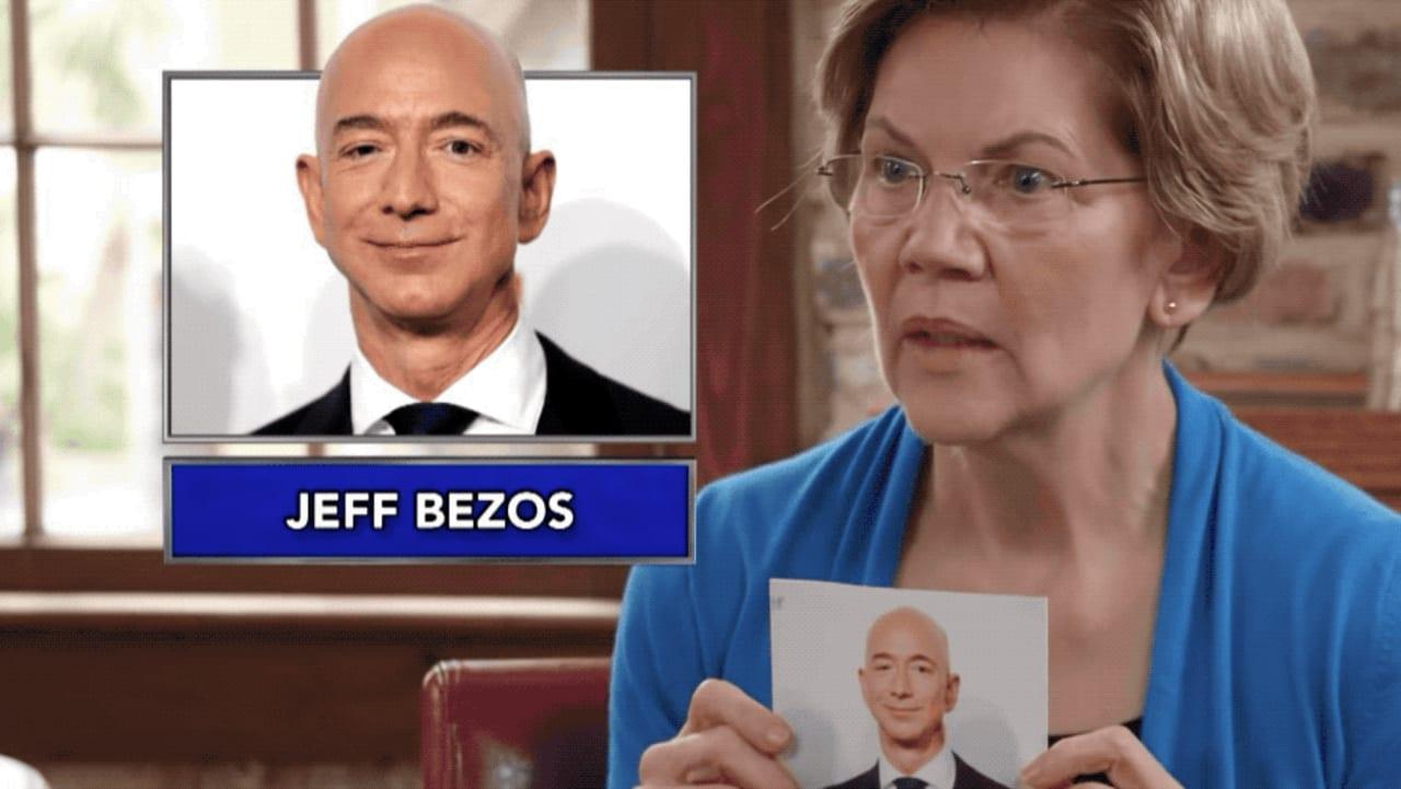 Elizabeth Warren plays hilarious game of name-that-billionaire-supervillain with Stephen Colbert