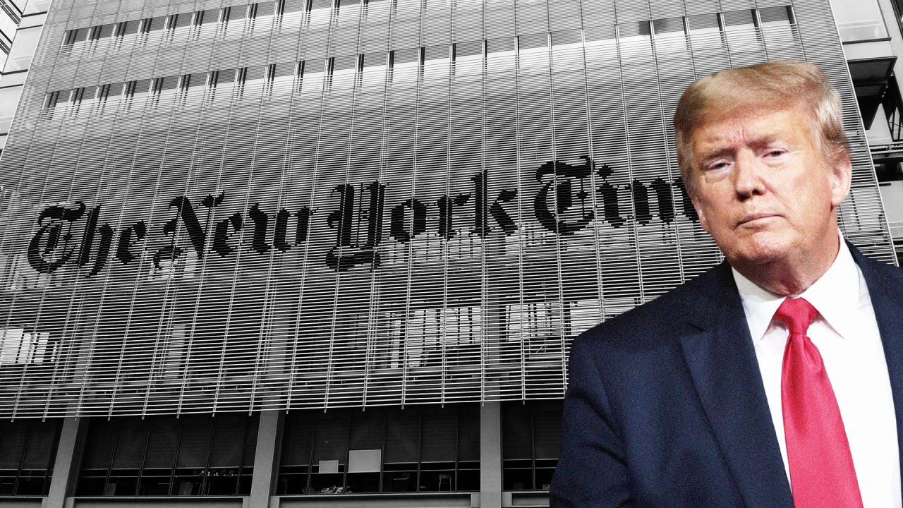 President Trump's reelection campaign is suing a familiar target: The New York Times