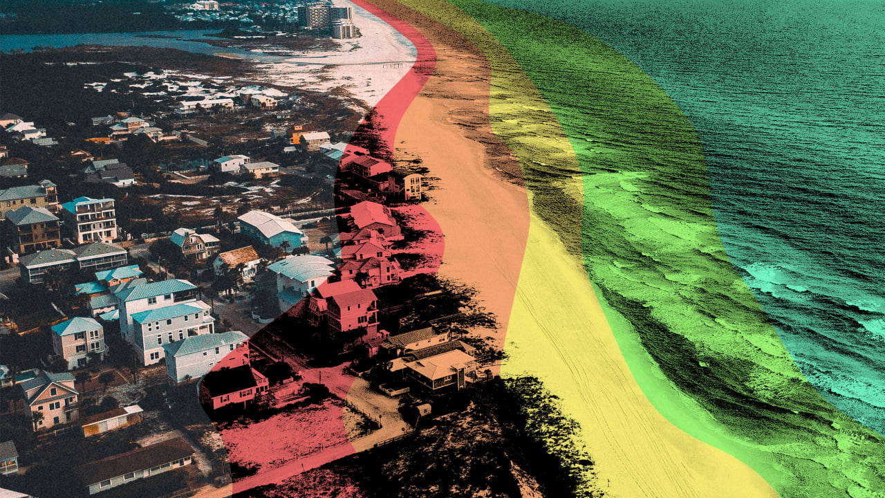 Even looking at flood maps can't convince coastal residents their homes will be underwater