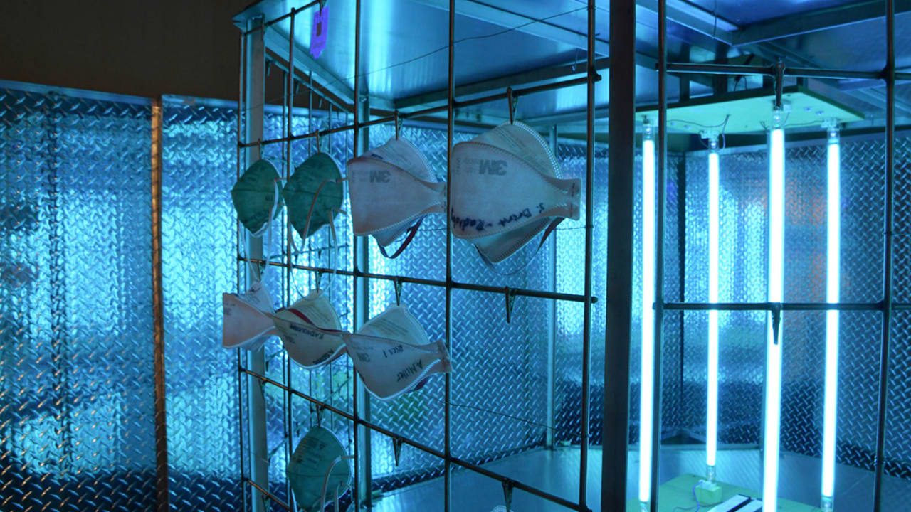 This UV-light 'bug zapper' can decontaminate 600 N95 masks an hour