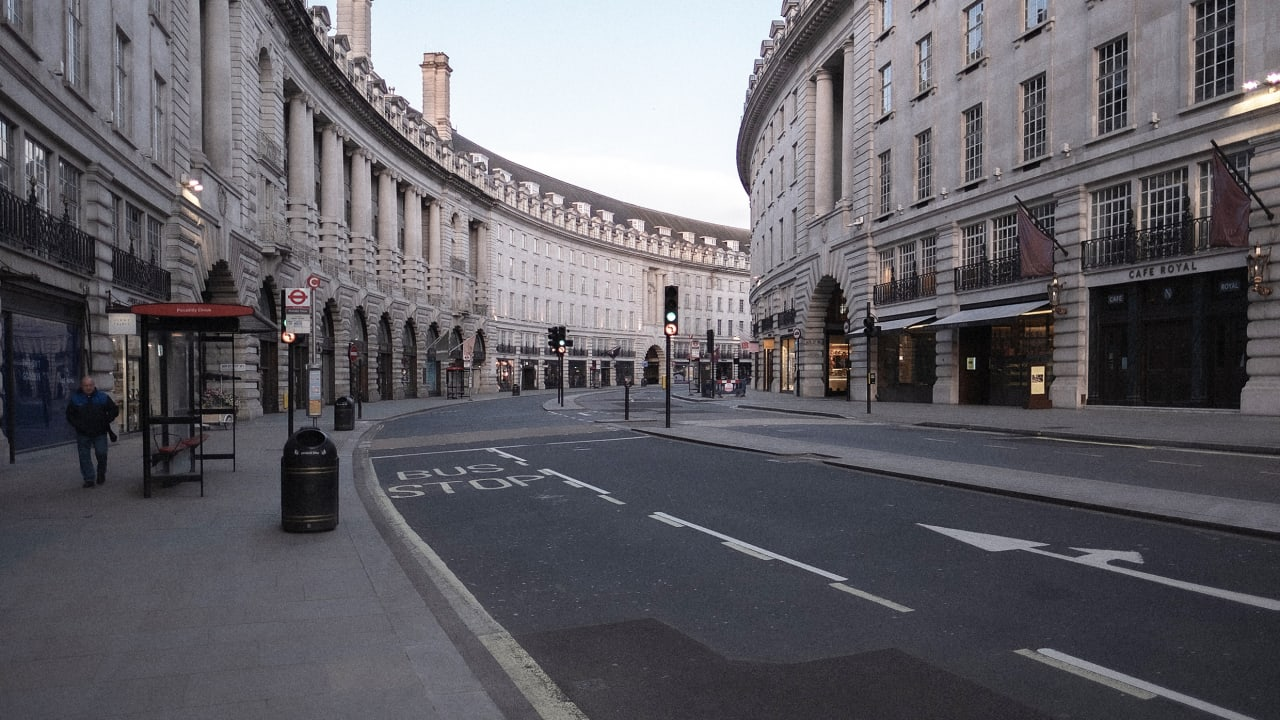 London is transforming its center into a car-free zone to create more distancing when it reopens