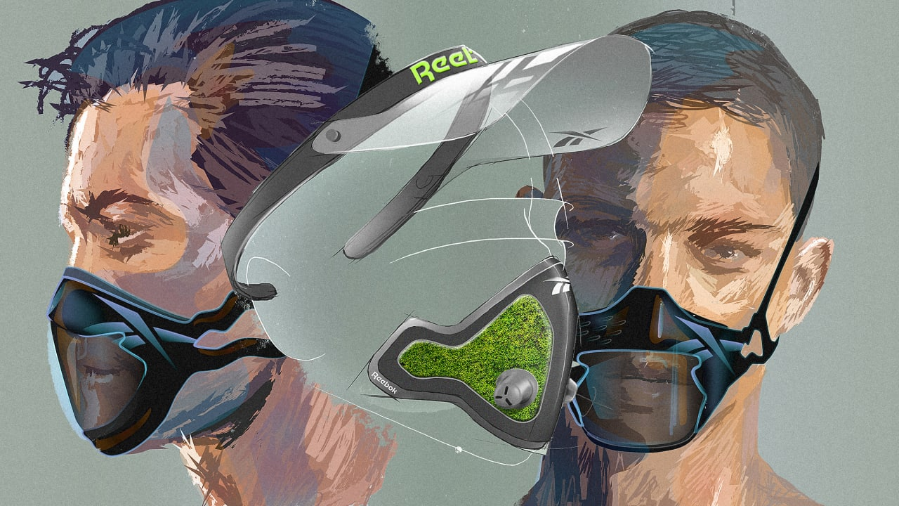 Reebok's fitness masks point to an even more dystopian future