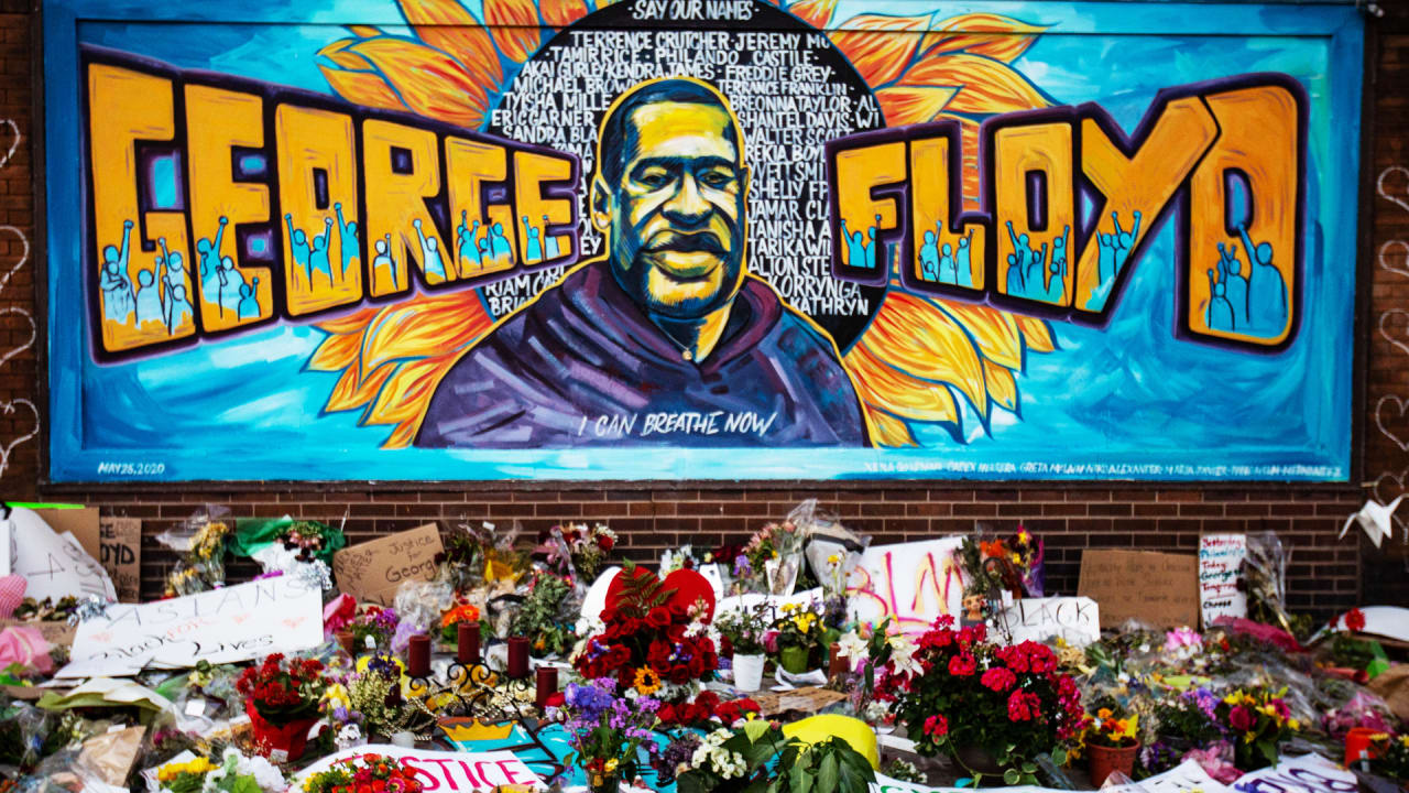 Image of article 'Murals for George Floyd around the world memorialize his death and show solidarity against racism'