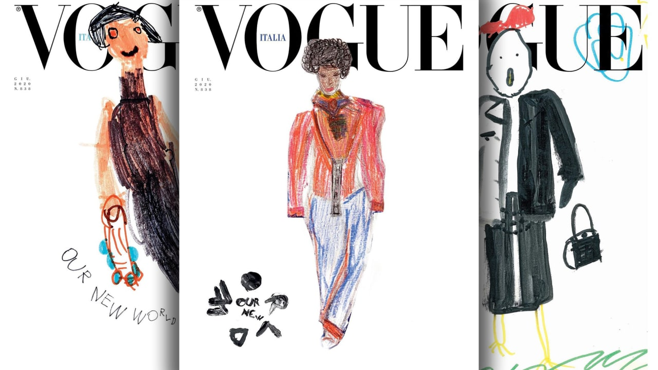 Flipboard Vibrant Kids Drawings Grace The June Cover Of Vogue Italia To Illustrate Our New World