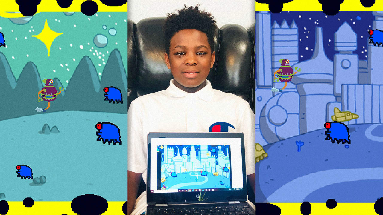 Sixth grader Israel Smith redesigns Space Invaders to combat COVID-19