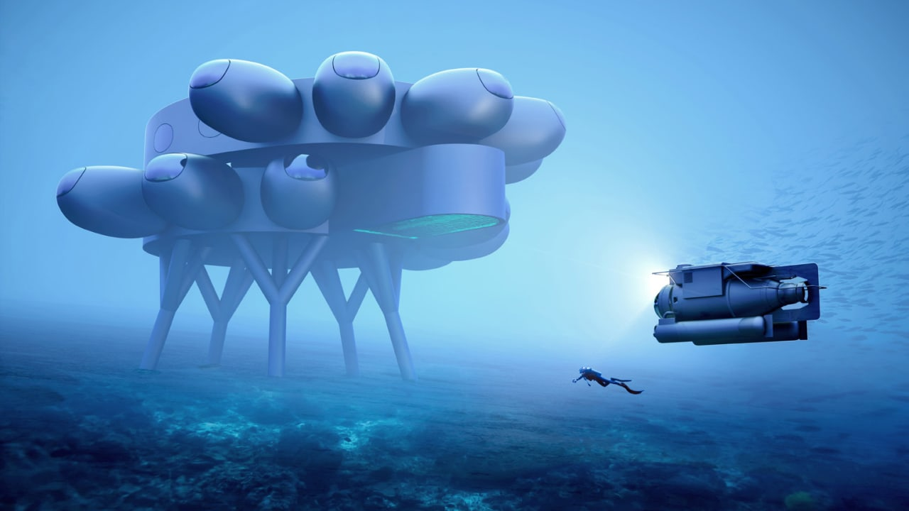 See the $135 million underwater lab designed by Fabien Cousteau and Yves Béhar