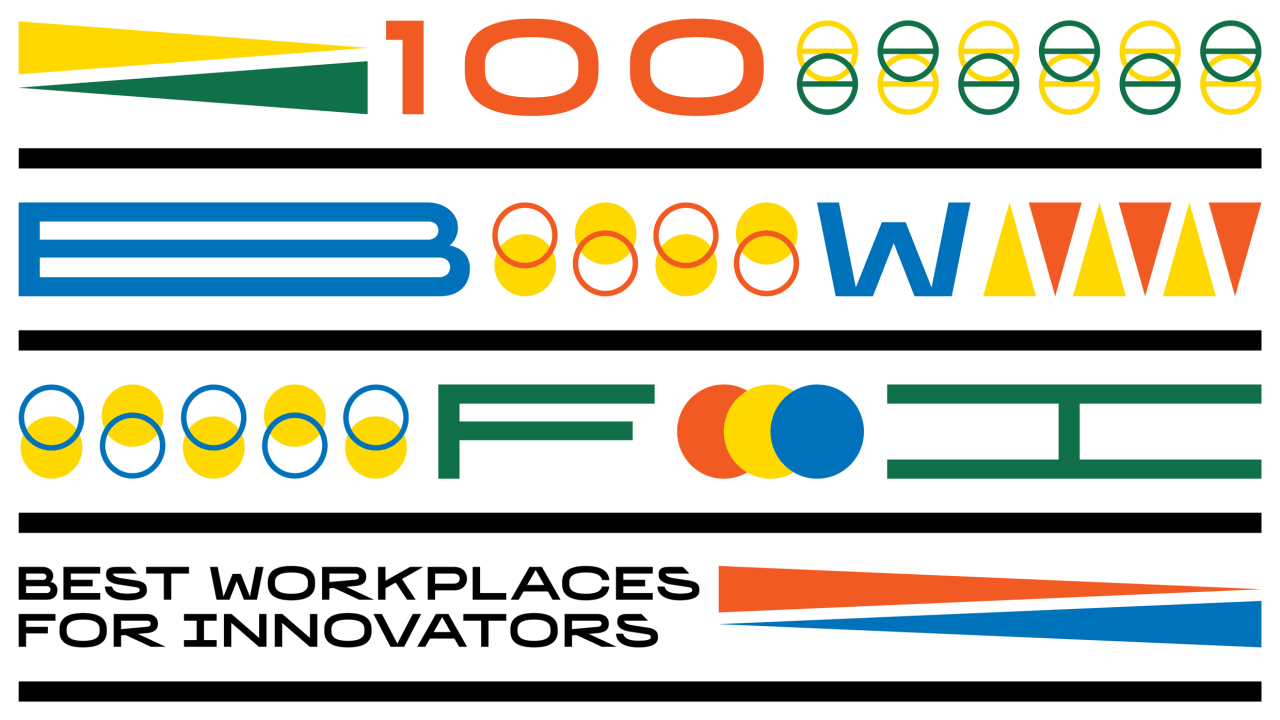 Introducing the 100 Best Workplaces for Innovators