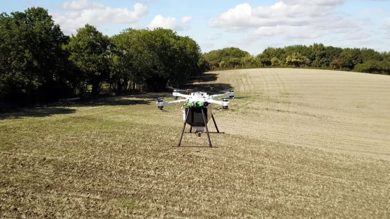 This startup just raised $10 million to restore ecosystems by drone
