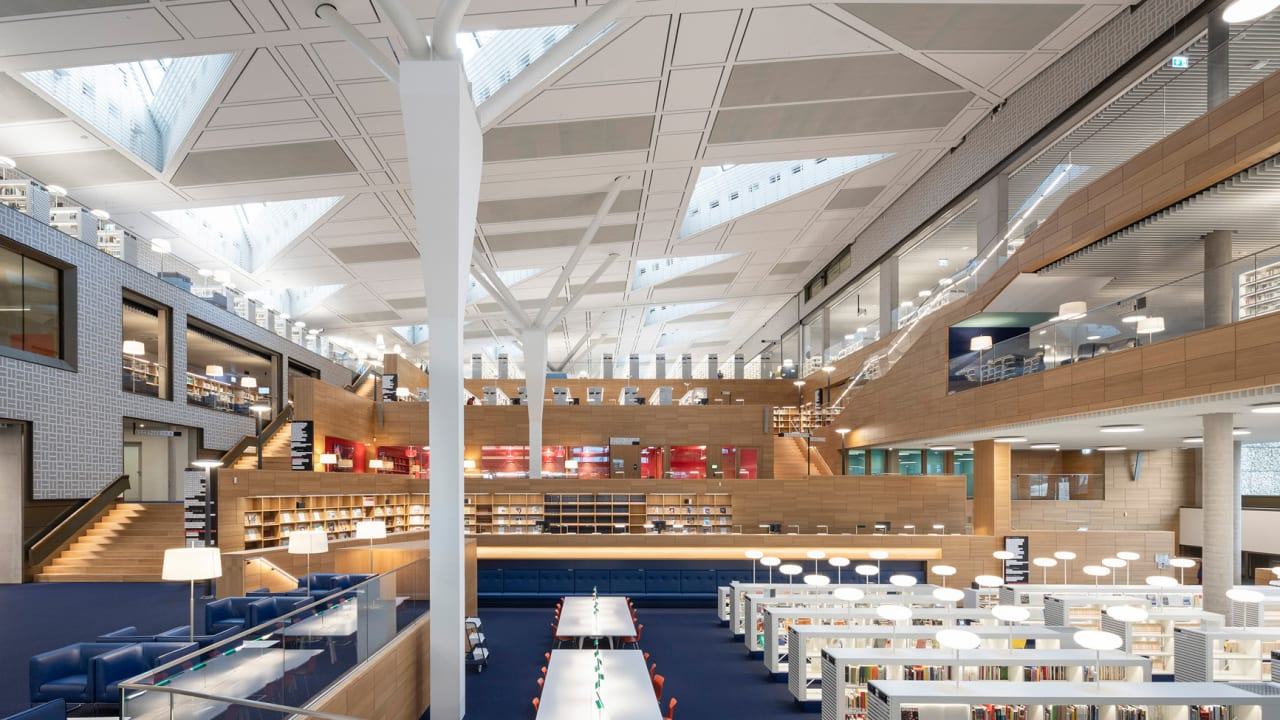 This library looks like a giant game of Scrabble