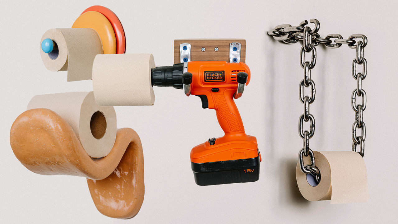 Image of article '50 designers reimagine the humble toilet paper holder'