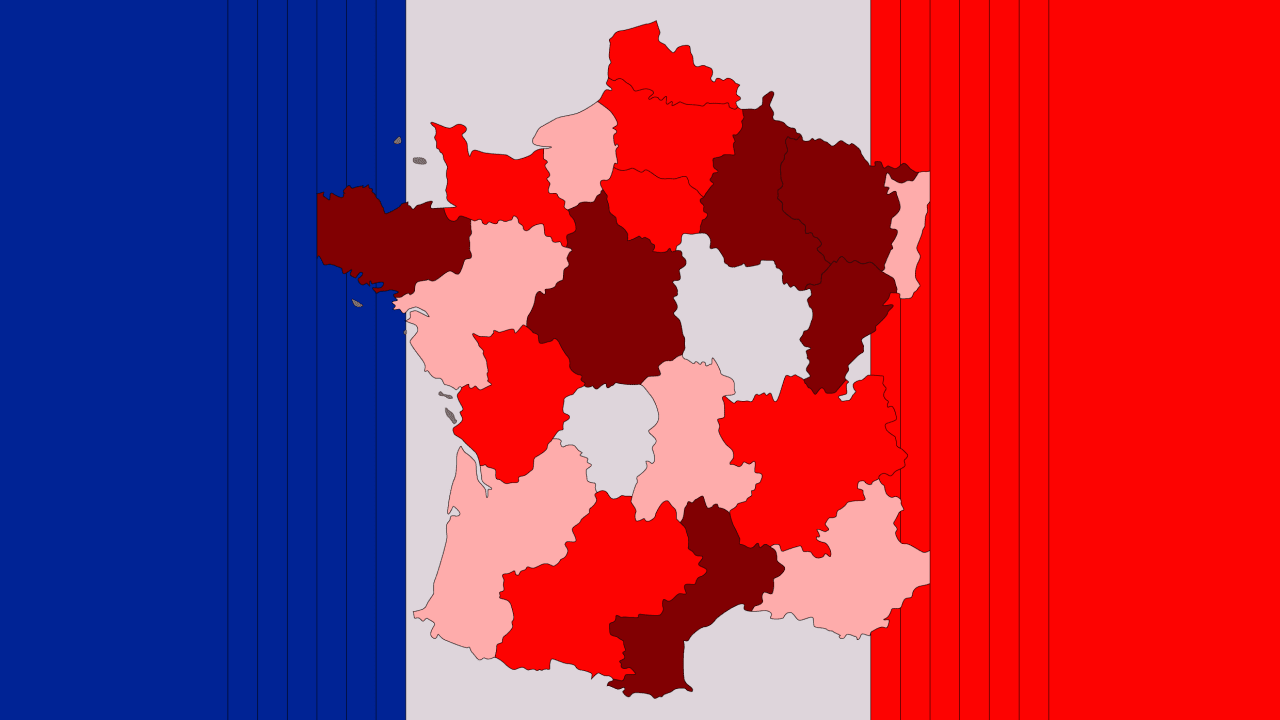 France S New Covid 19 Map In Shades Of Red Might Be The Most Effective