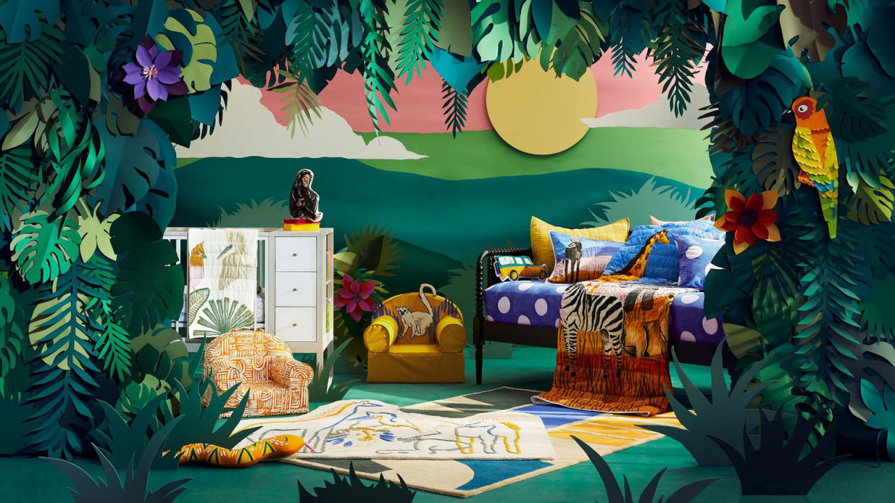 See Jane Goodall's new kids' decor line with Crate & Barrel