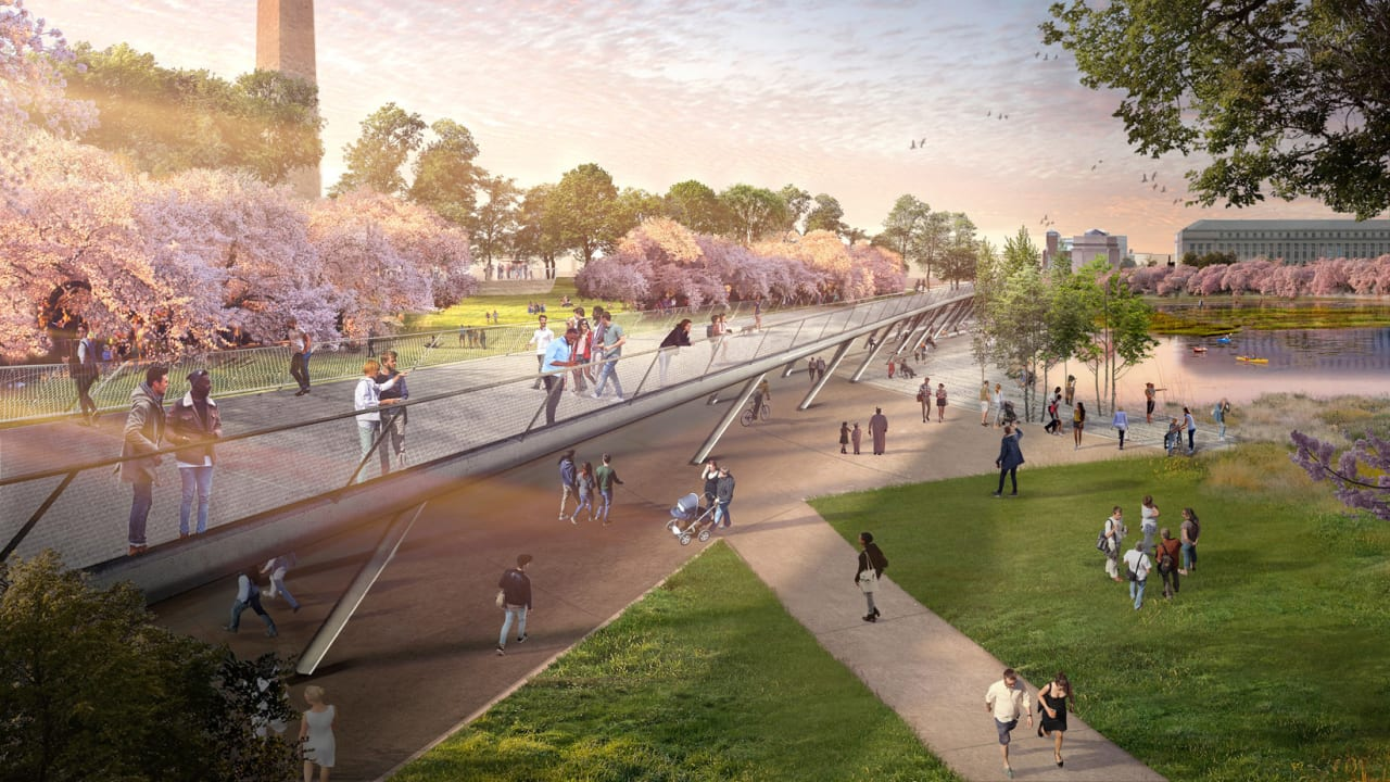 The Jefferson Monument will be under 4 feet of water by 2040. Here's how to redesign the National Mall