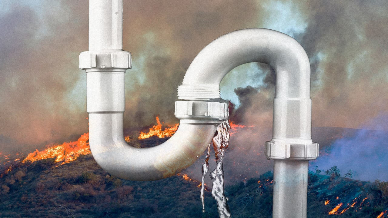 After a fire, your drinking water may be contaminated even if your house was saved