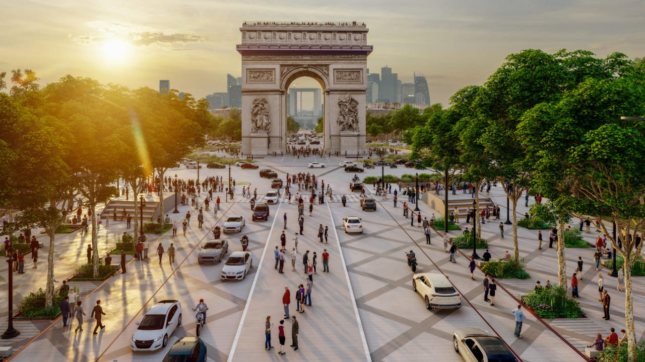 Paris is turning its iconic street into pedestrian gardens