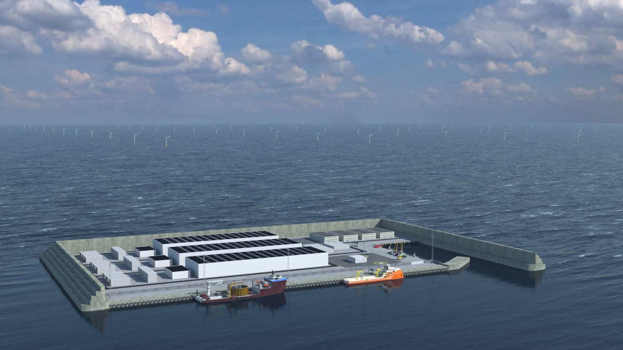 Denmark is building an artificial island to house the world's first clean energy hub