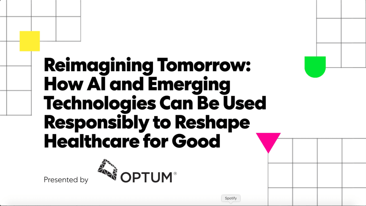 Reimagining tomorrow: How AI and emerging technologies can be used responsibly to reshape healthcare for good