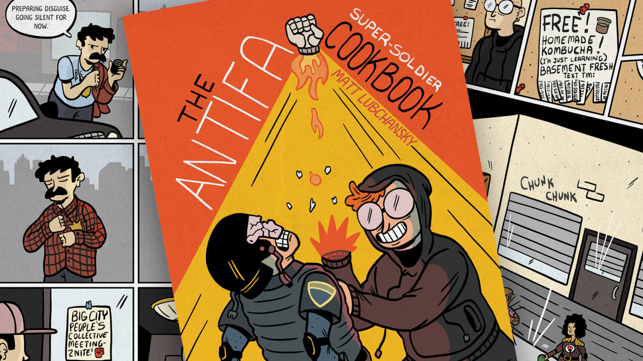 This hilarious book depicts what your racist grandpa thinks antifa is up to