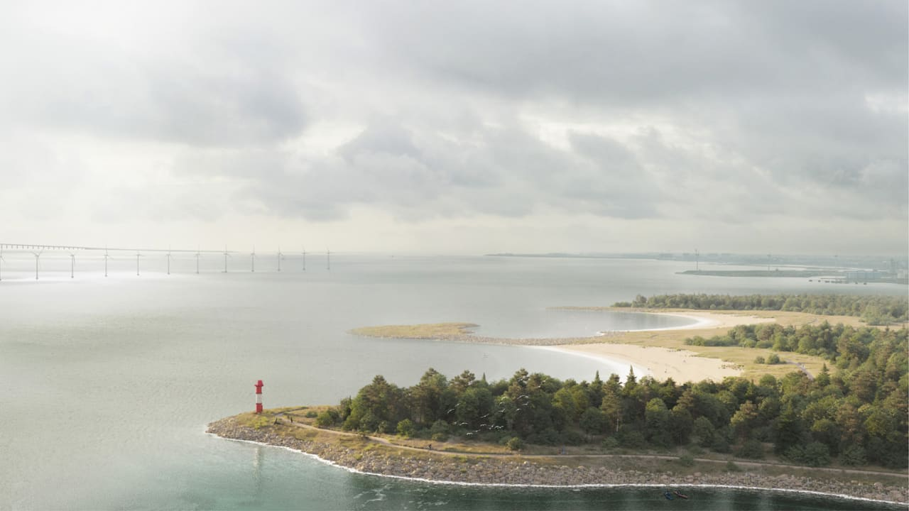 Copenhagen is building a huge island in its harbor to protect against sea level rise