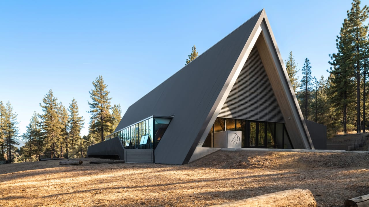 The classic A-frame cabin gets a sleek redesign