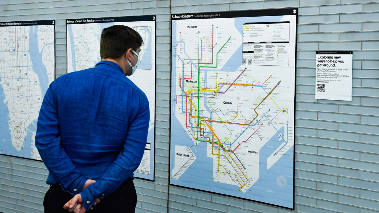 See NYC's bold new subway map, inspired by Massimo Vignelli's 1972 classic
