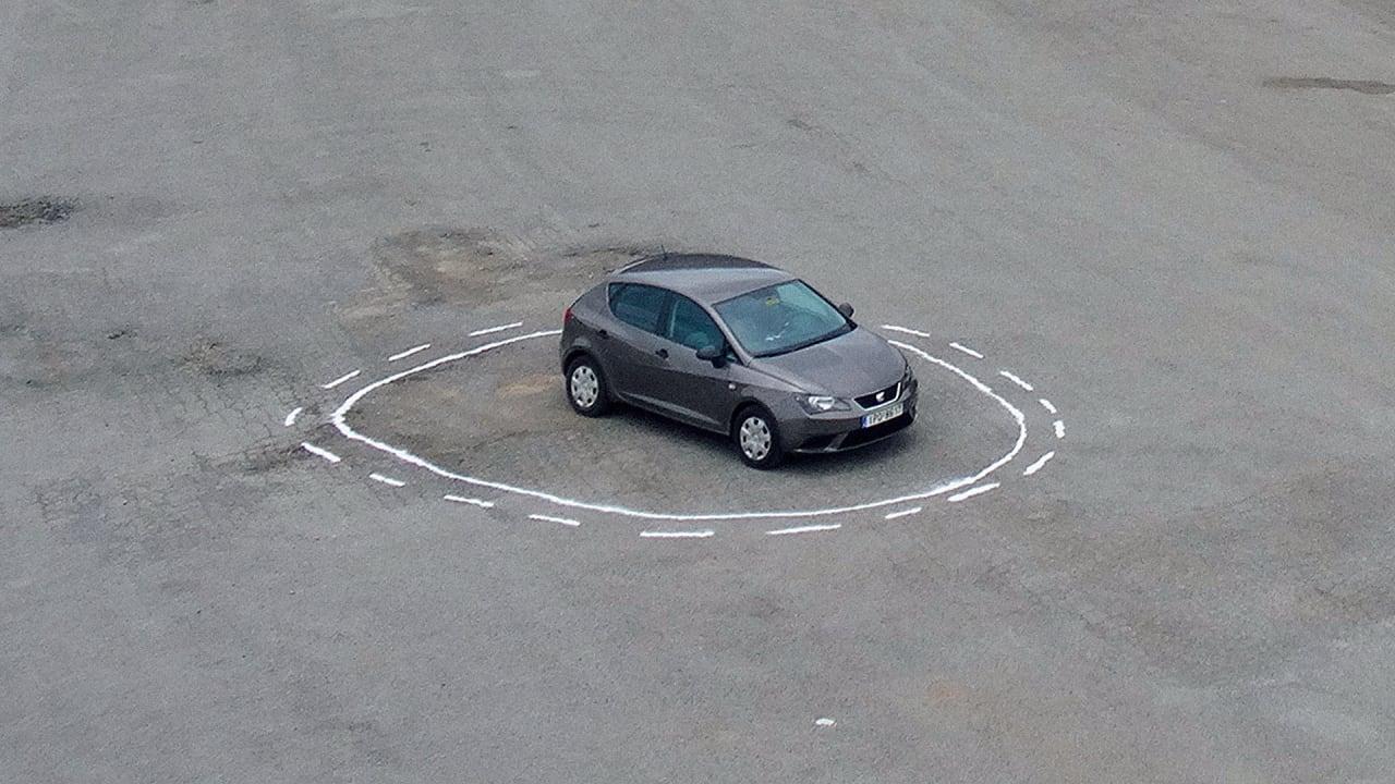 Logical paradox. The autonomous car cannot escape the circle.