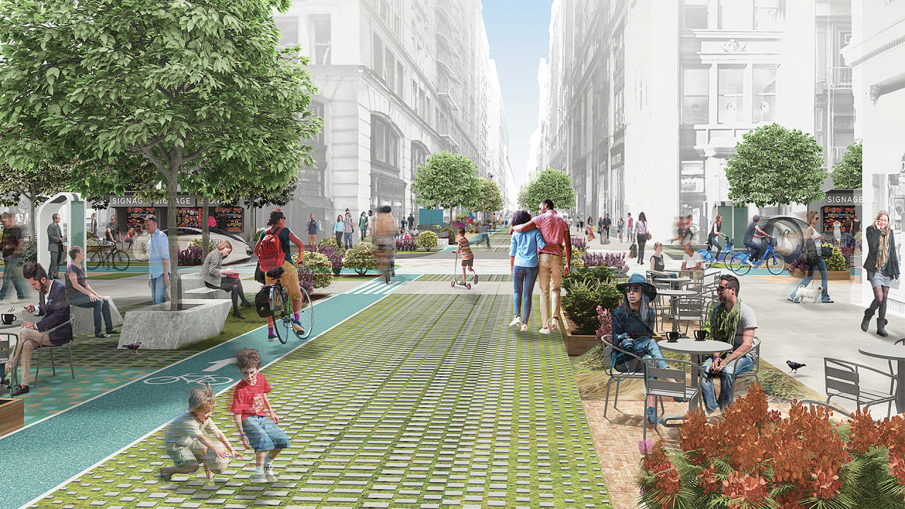 Driverless cars could turn n y c into a city of tiny parks for Parking solutions for small spaces