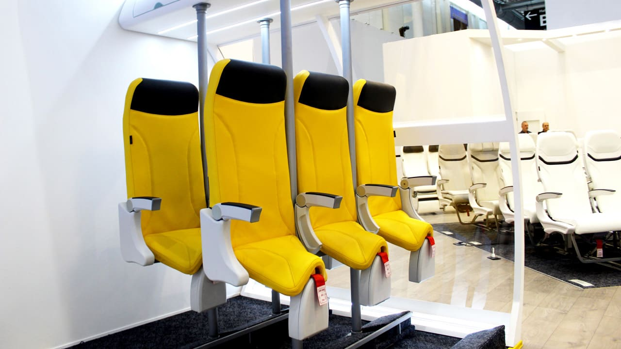 The Airplane Saddle Is A Standing Seat For Super Economy