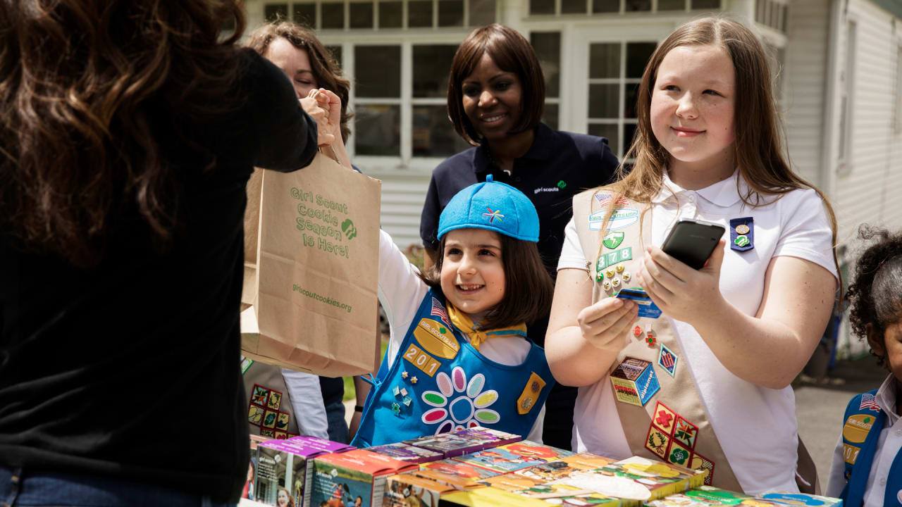 Girl Scouts using digital payments to sell Girl Scout cookies