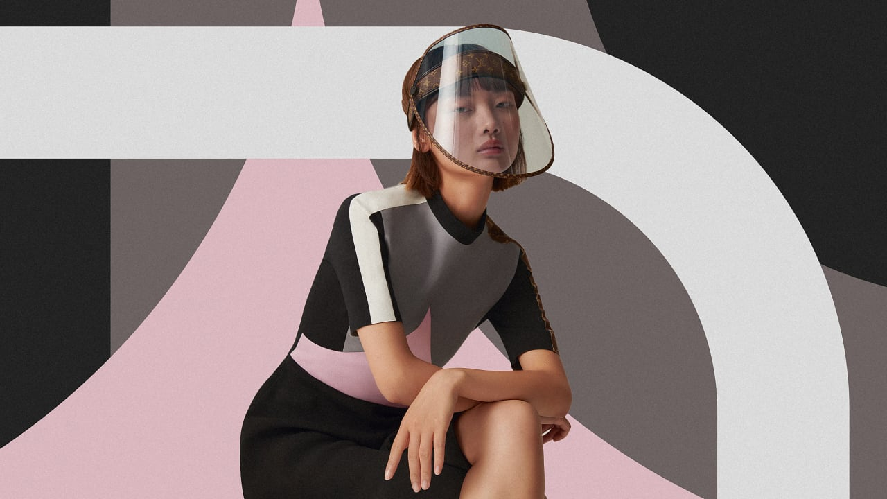 Louis Vuitton's new face shield doesn't just protect you from COVID-19