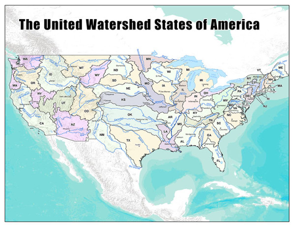 A New Map Of The US Created From Where We Get Our Water