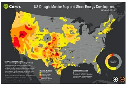 These Maps Show Where Droughts And Fracking Collide