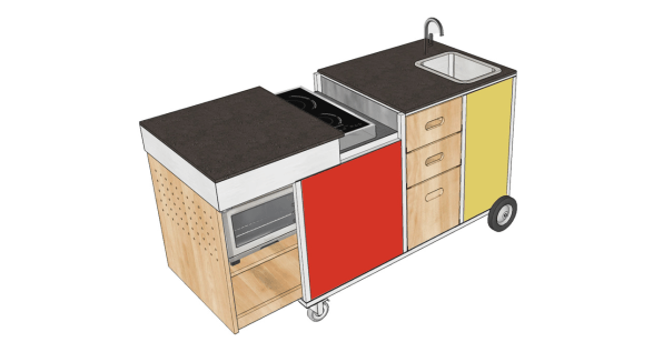 A Mobile Kitchen Designed To Help Kids Learn To Like Their Vegetables