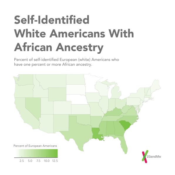 The Genetic Ancestry Of The United States According To 23andMe