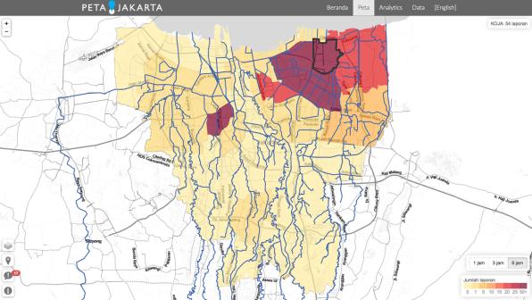 CrowdMapping Jakartas Flood Problem Via Twitter Because Jakartans L