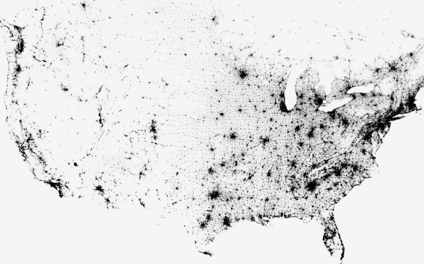 Infographic Every Person In The US And Canada On One Crazy Zoomab - Us dot map