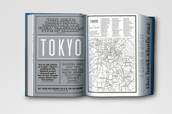 An atlas of where chefs eat told in 50 fonts and 700 pages for designer kobi benezri the books hyperbolic scope was an invitation to experiment with an equally dense graphic identity the former id art director solutioingenieria Choice Image