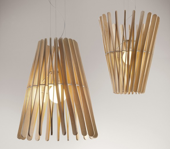 Crasset Says Each Lamp Starts With A Single Module The Popsicle Stick Piece Of Ayous Wood